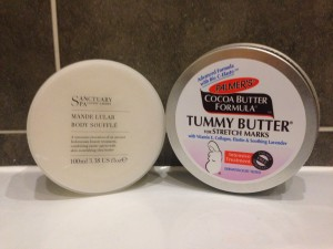 Palmers Tummy Butter and Sanctuary Body Soufle