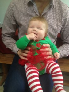 Santas little helper baby