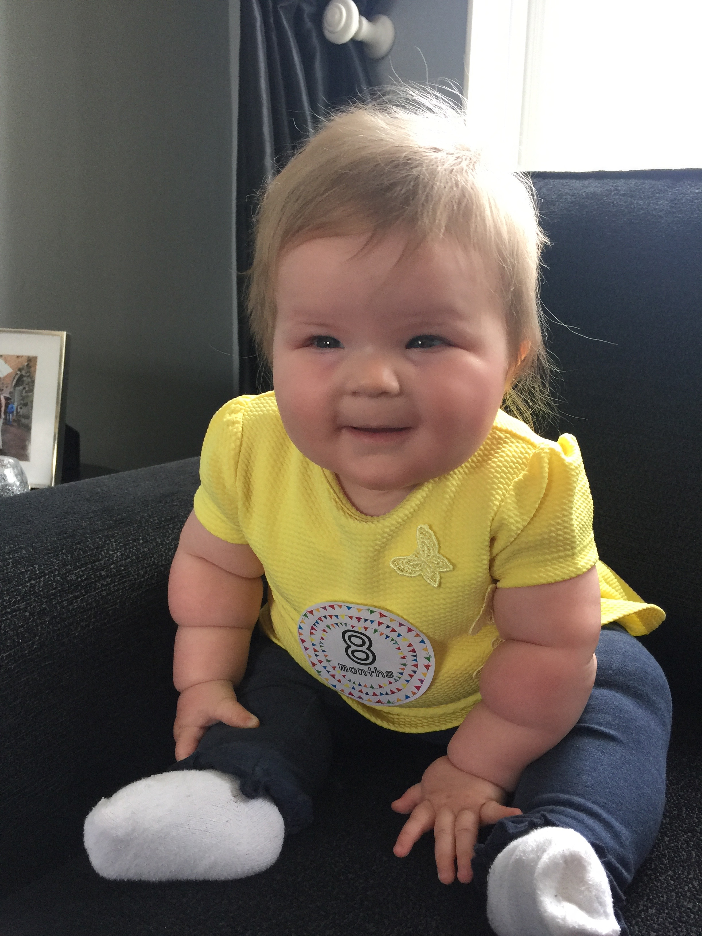 8 months old smiling