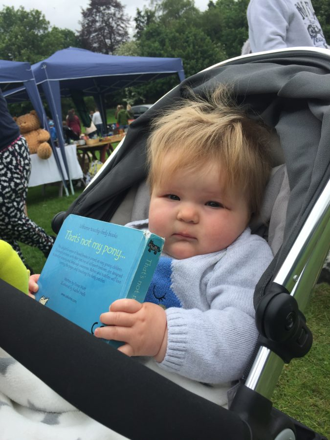 Lottie with her book