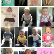 Photos of baby girl's first year