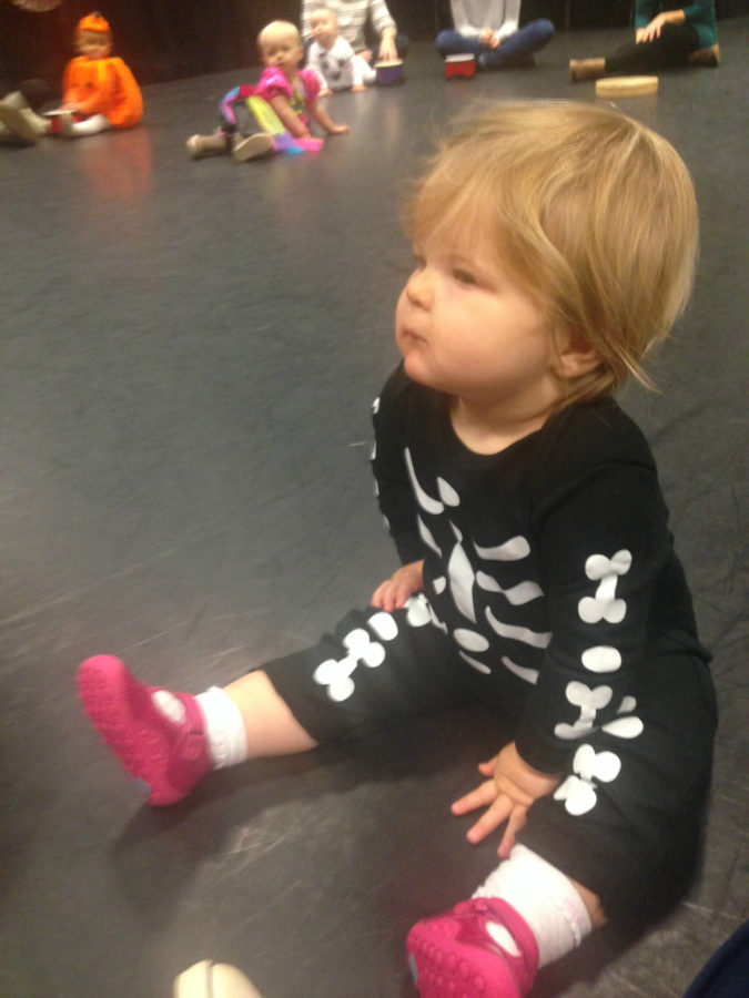 Baby is skeleton outfit